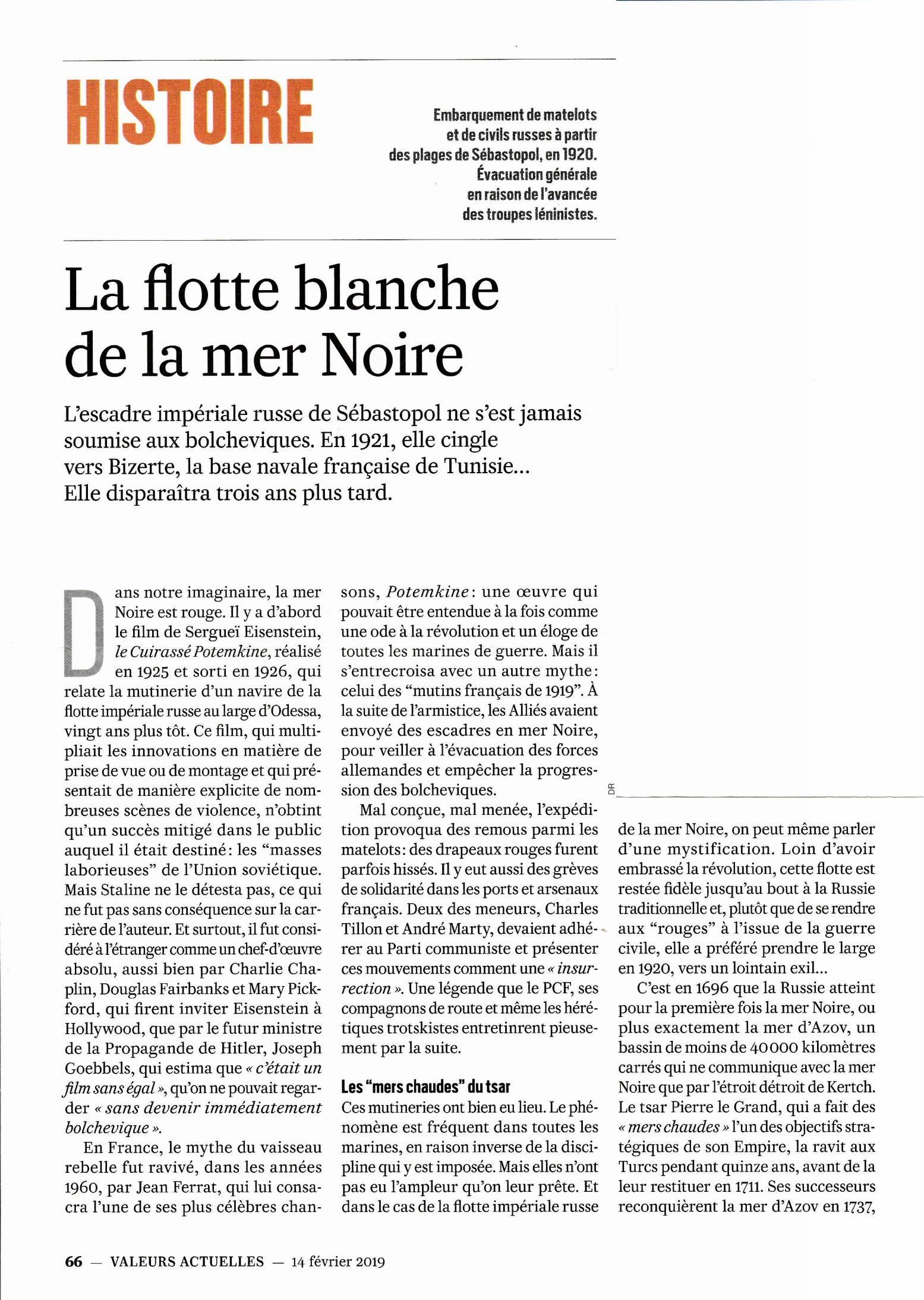 LA FLOTTE BLANCHE DE LA MER NOIRE